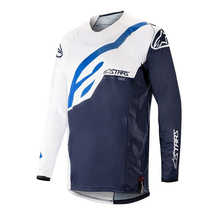 Kit Jersey Alpinestars Techstar Factory - 2019- White Dark Navy XXL - Extra Large