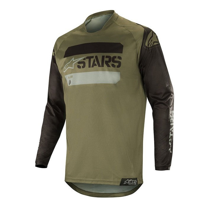 Kit Jersey Alpinestars Racer Teactical - 2019- Black Military Green XXL - Extra Large