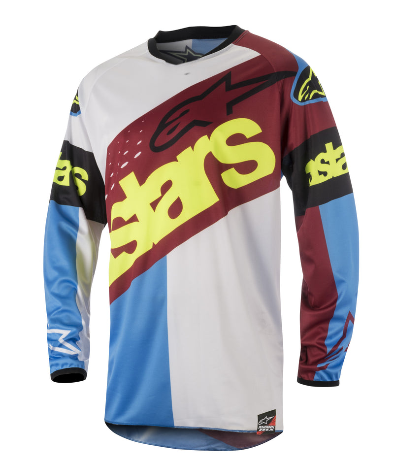 2018 Alpinestars Racer Flagship Jersey Red Aqua White OCT17