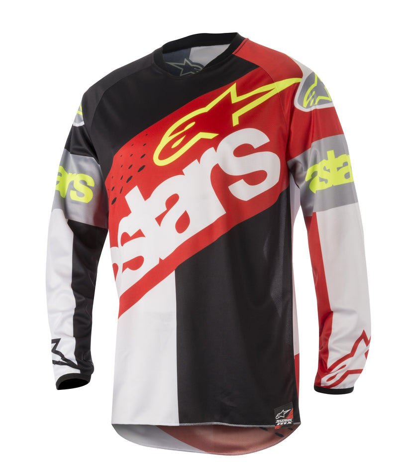 Kit Jersey Alpinestars Racer Flagship - 2018- Black Red White S - Small