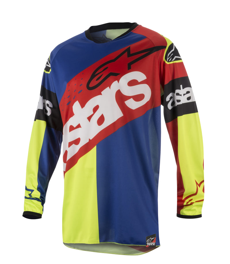 Kit Jersey Alpinestars Racer Flagship - 2018- Blue Red Yellow Flo S - Small
