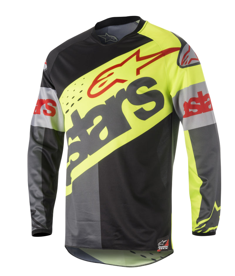 Kit Jersey Alpinestars Racer Flagship - 2018- Flo Black Anthracite S - Small