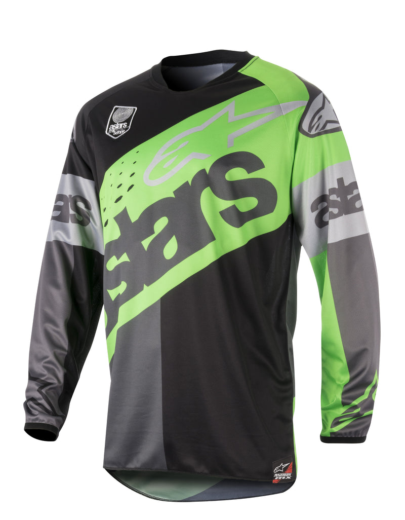 Kit Jersey Alpinestars Racer Flagship - 2018- Black Flo Green Grey S - Small