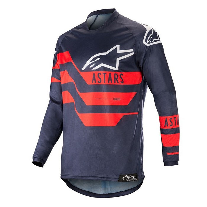 Kit Jersey Alpinestars Racer Flagship - 2019- Dark Navy Blue Red XL - Extra Large