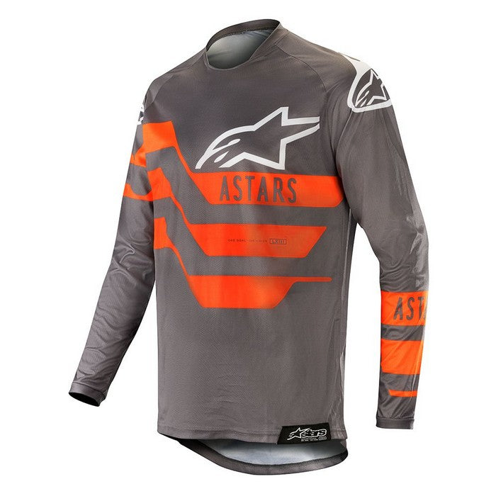 Kit Jersey Alpinestars Racer Flagship - 2019- MID GREY MID GREY ORANGE FLUO XL - Extra Large