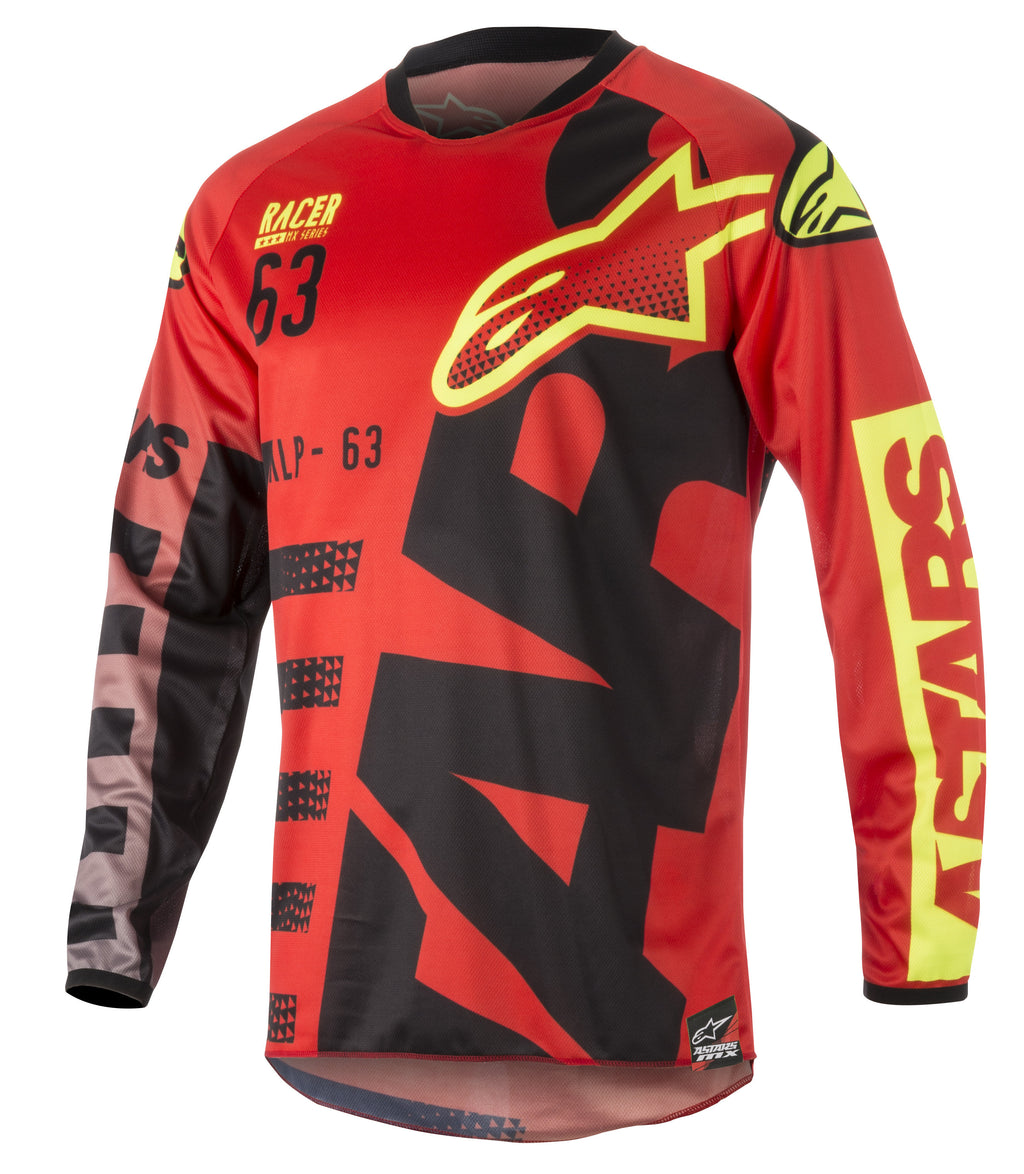 Kit Combo Alpinestars Racer Braap - 2018- Black Flo Red 30in S-Small