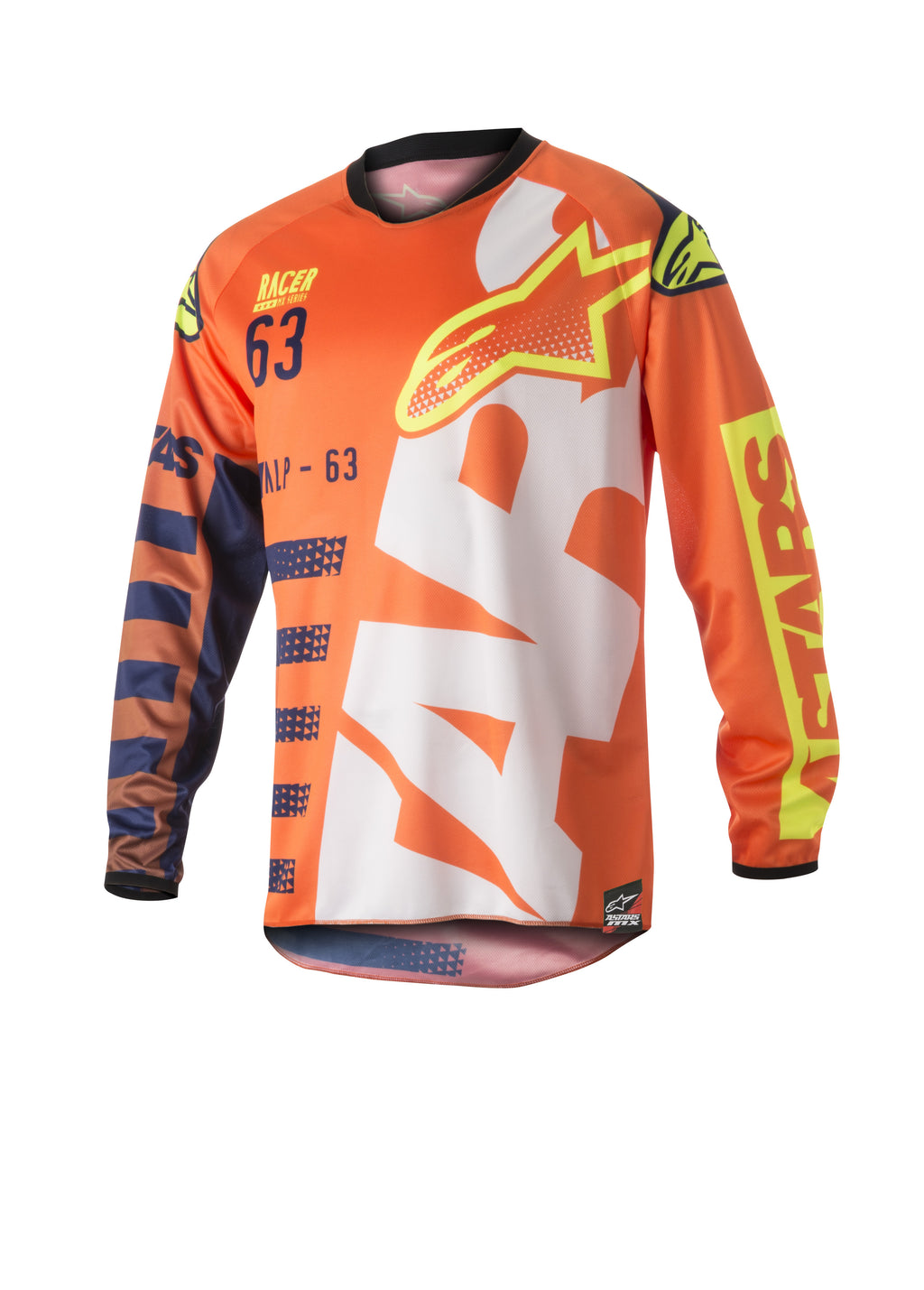 Kit Combo Alpinestars Racer Braap - 2018- Orange Blue White 30in S-Small