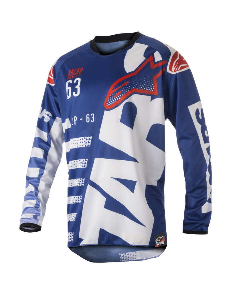 Kit Jersey Alpinestars Racer Braap - 2018- Blue White Red S - Small