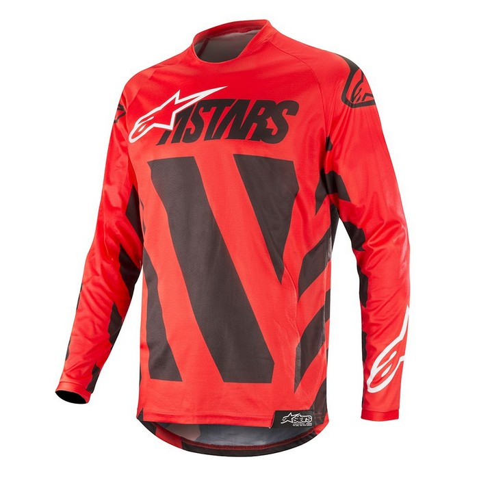 Kit Jersey Alpinestars Racer Braap - 2019- Black Red White XL - Extra Large
