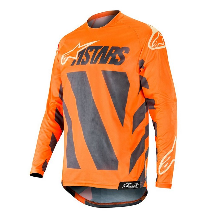 Kit Jersey Alpinestars Racer Braap - 2019- ANTHRACITEORANGE FLUOSANDXL - Extra Large