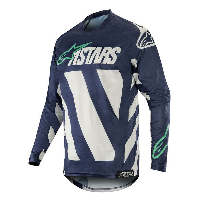 Kit Jersey Alpinestars Racer Braap - 2019- Cool Grey Dark Navy Teal XL - Extra Large