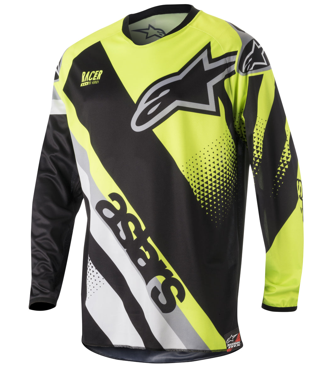 Kit Jersey Alpinestars Racer Supermatic - 2018- Black Flo Grey S - Small