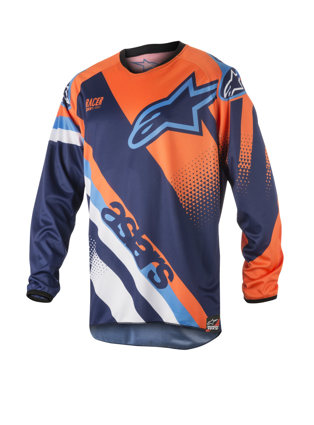 Kit Combo Alpinestars Racer Supermatic - 2018- Blue Orange Aqua 30in S-Small