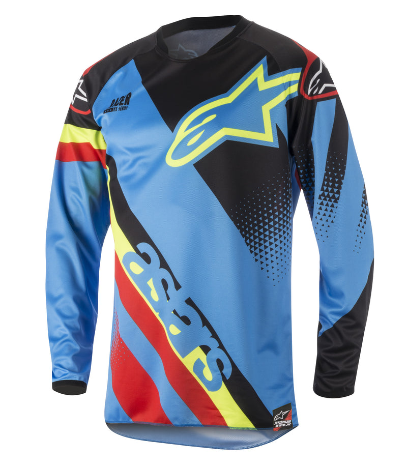 Kit Jersey Alpinestars Racer Supermatic - 2018- Aqua Black Red S - Small