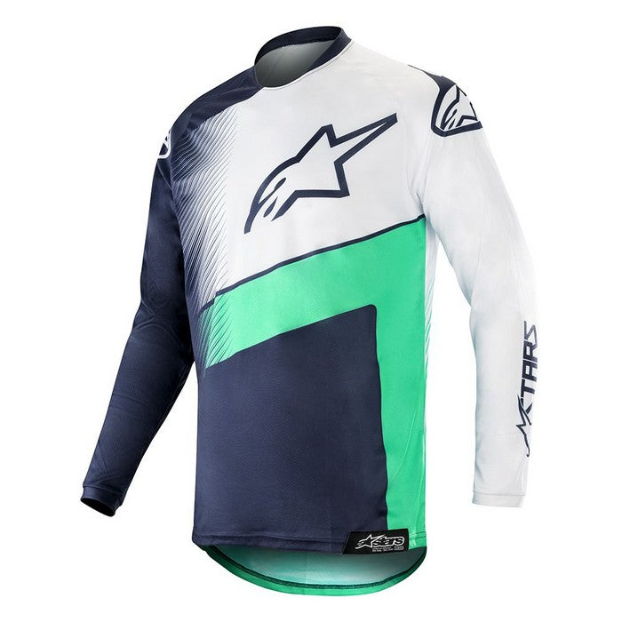 Kit Jersey Alpinestars Supermatic - 2019- Dark Navy Teal White XL - Extra Large