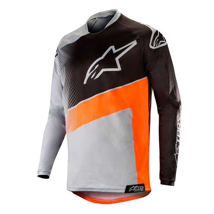 Kit Jersey Alpinestars Supermatic - 2019- Light Grey Orange Fluo Black XL - Extra Large