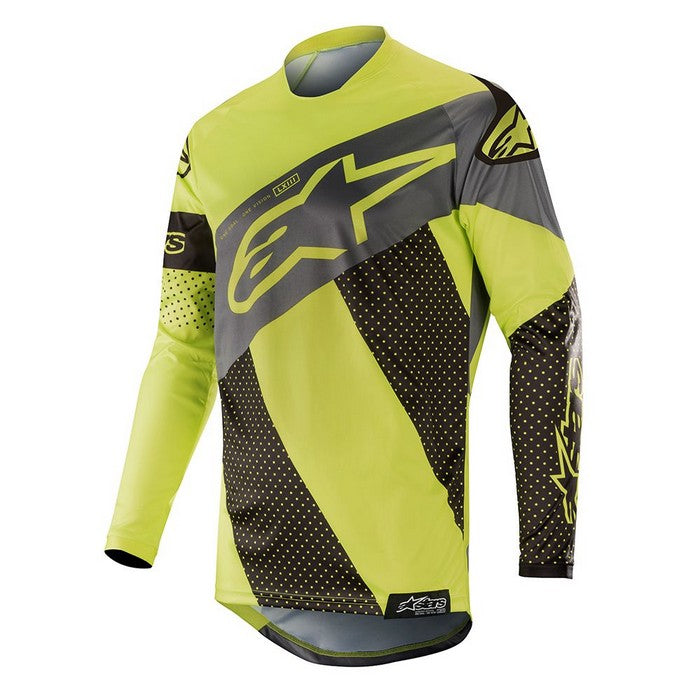 Kit Jersey Alpinestars Racer Tech Atomic - 2019- Black Yellow Fluo Grey XL - Extra Large