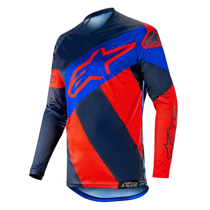 Kit Jersey Alpinestars Racer Tech Atomic - 2019- Red Dark Navy Blue XL - Extra Large