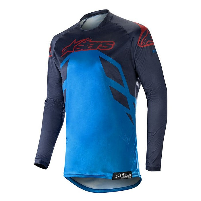 Kit Jersey Alpinestars Racer Tech Compass - 2019- Dark Navy Mid Blue Burgundy XL - Extra Large