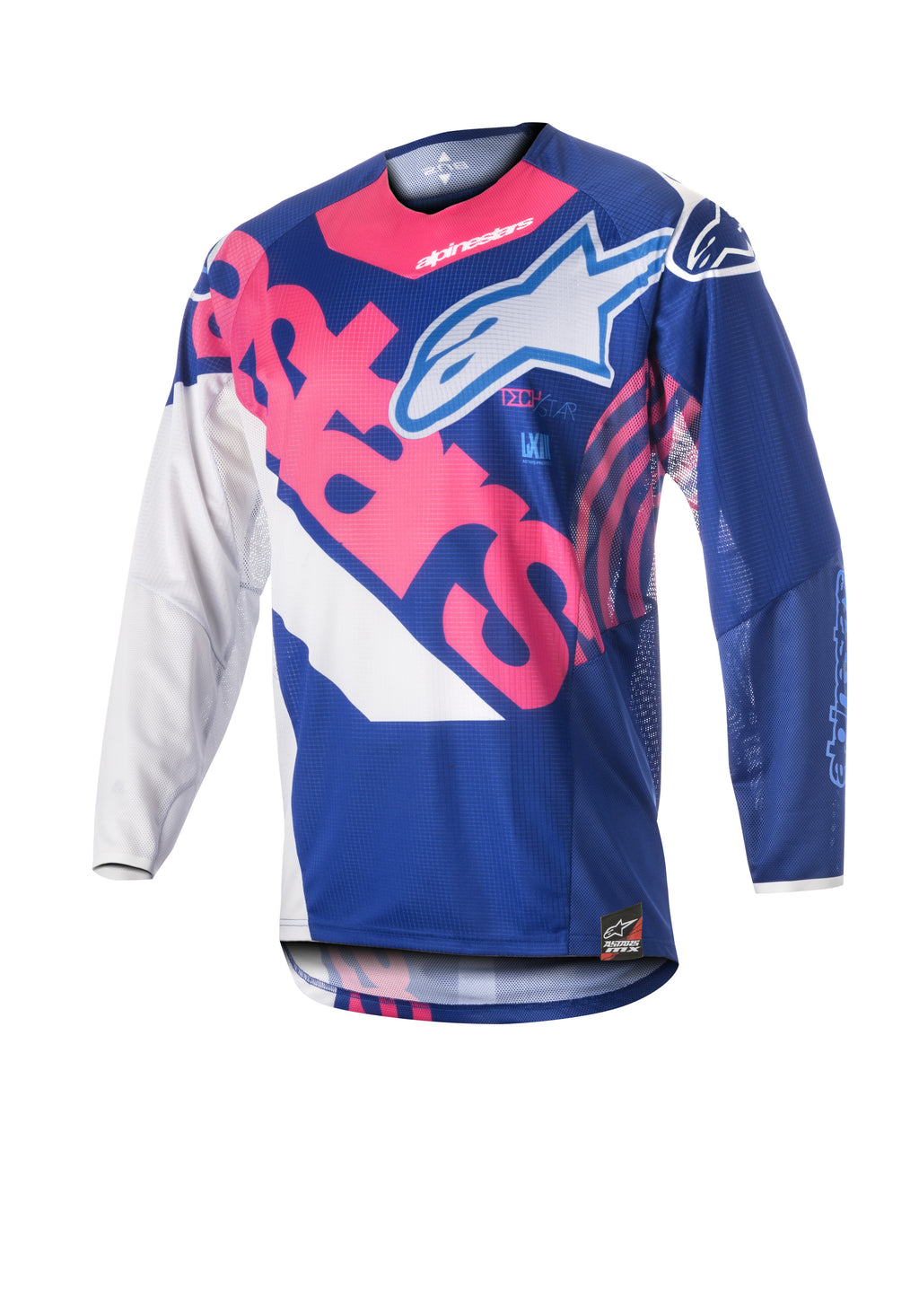 Kit Jersey Alpinestars Racer Venom Youth - 2018- Plue Pink White S - Small