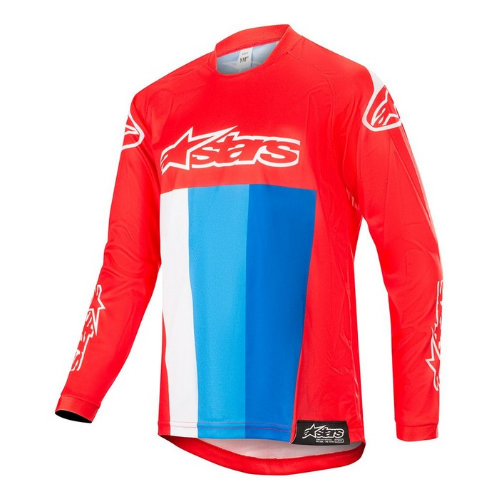 Kit Jersey Alpinestars Racer Venom Youth- 2019- Red White Blue XL - Extra Large