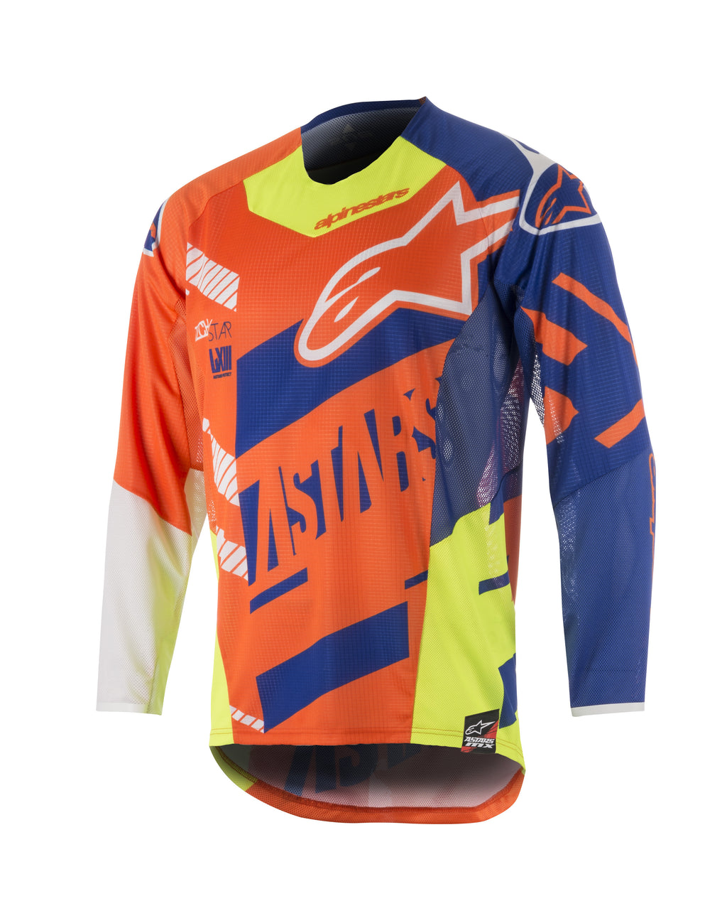 2018 Youth Alpinestars Racer Jersey Scream Orange Blue White OCT17