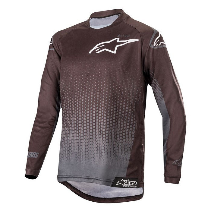 Kit Jersey Alpinestars Racer Graphite Youth- 2019- Black Anthracite XL - Extra Large