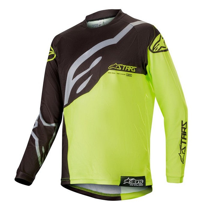 Kit Jersey Alpinestars Racer Factory Youth- 2019- Black Yellow Fluo XL - Extra Large