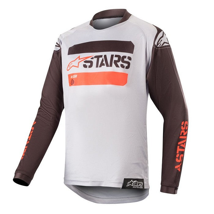 Kit Jersey Alpinestars Racer Teactical Youth- 2019- Black GreyRed Fluo XL - Extra Large
