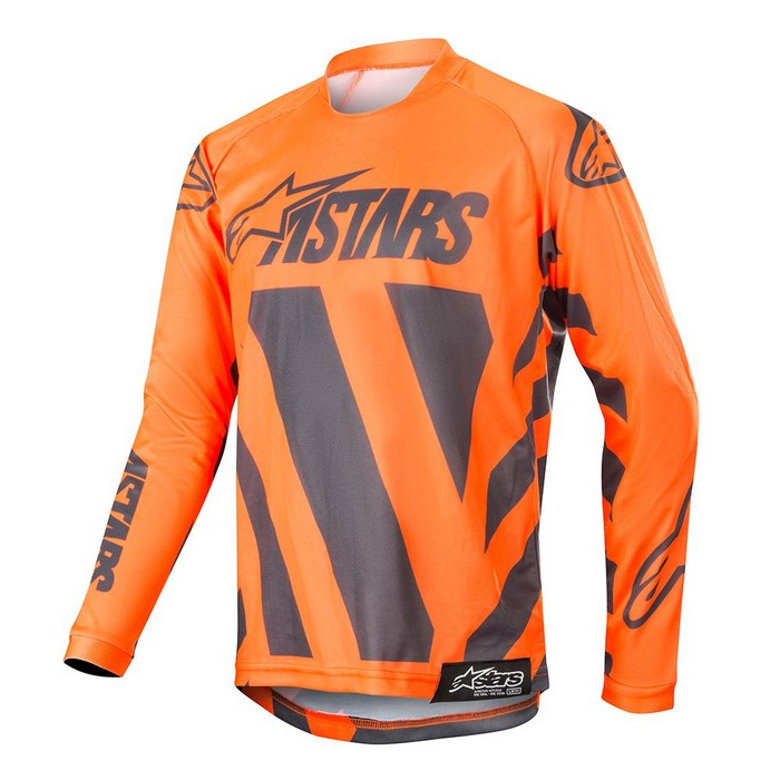 Kit Jersey Alpinestars Racer Braap Youth- 2019- Anthracite Orange Fluo XL - Extra Large