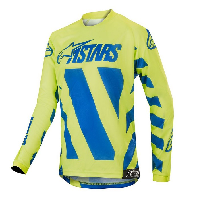 Kit Jersey Alpinestars Racer Braap Youth- 2019- Blue Yellow Fluo XL - Extra Large