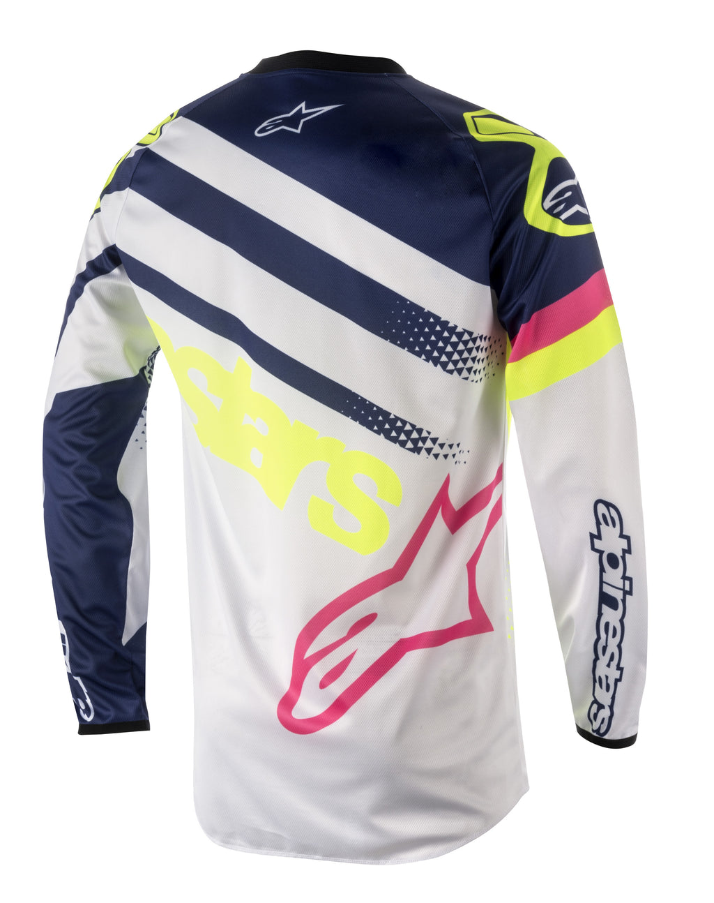 2018 Youth Alpinestars Supermatic Jersey White Blue Flo