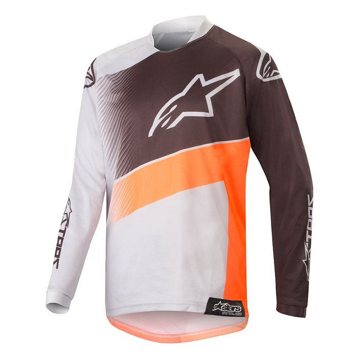 Kit Jersey Alpinestars Supermatic Youth- 2019- Light Grey Orange Fluo Black XL - Extra Large