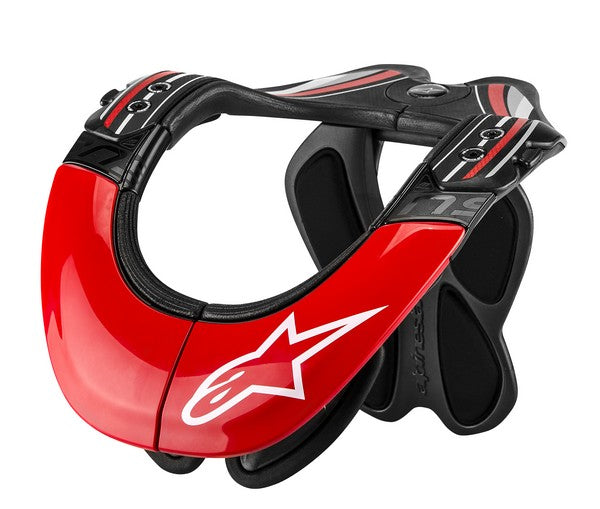 Kit Protection Neck Support Alpinestars Tech Carbon - - Black Red XS - Extra Small