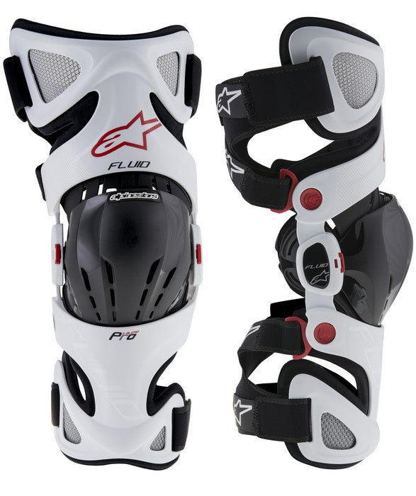Kit Protection Knee Brace Alpinestars Fluid Pro - - White XL - Extra Large XXL - Extra Large
