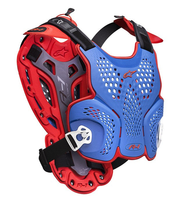 Kit Protection Body Armour Roost Guard Alpinestars A1 - 2016- Blue Red White