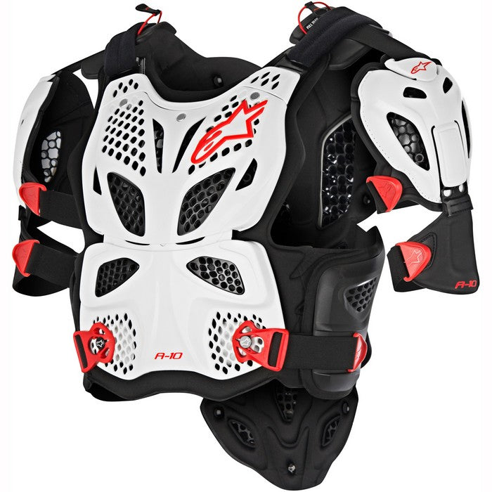 Kit Protection Body Armour Chest Protector Alpinestars - - White Black Red XS - Extra Small S - Small