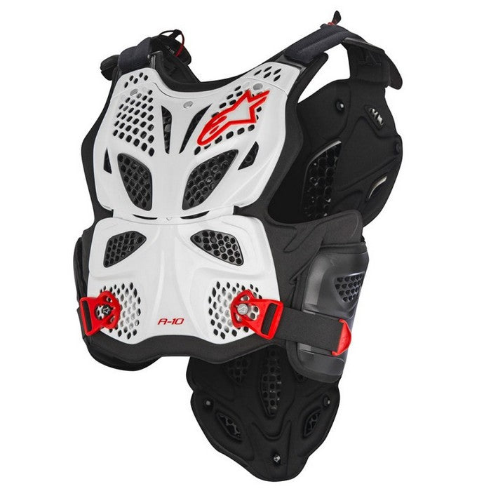 Kit Protection Body Armour Chest Protector Alpinestars A10 - - White Black Red XS - Extra Small S - Small