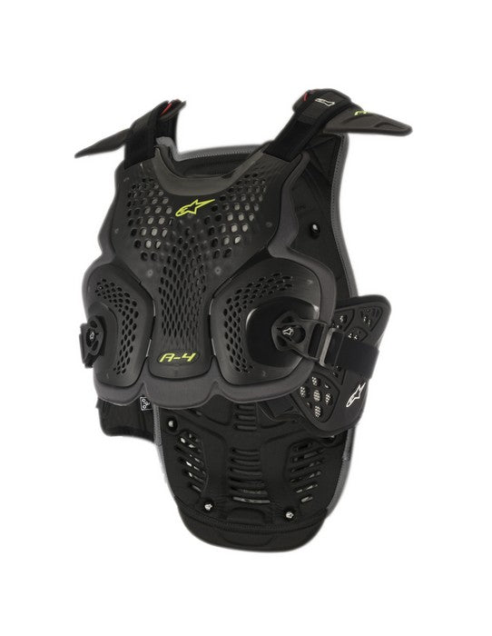 Kit Protection Body Armour Chest Protector Alpinestars A4 - - Black Anthracite XS - Extra Small S - Small