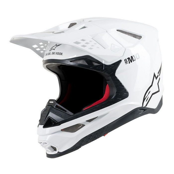 Kit Helmet Alpinestars Supertech S-M10Solid - 2019- White Gloss XS - Extra Small