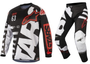 2018 Alpinestars Racer Braap Combo Kit - Black White Red