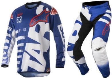 Kit Combo Alpinestars Racer Braap - 2018- Blue White Red 28in S-Small