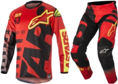 Kit Combo Alpinestars Racer Braap - 2018- Black Flo Red 28in S-Small
