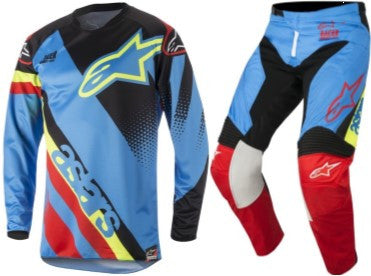 Kit Combo Alpinestars Racer Supermatic - 2018- Aqua Black Red 28in S-Small