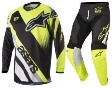 Kit Combo Alpinestars Racer Supermatic - 2018- Black Flo Grey 28in S-Small