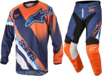 Kit Combo Alpinestars Racer Supermatic - 2018- Blue Orange Aqua 28in S-Small