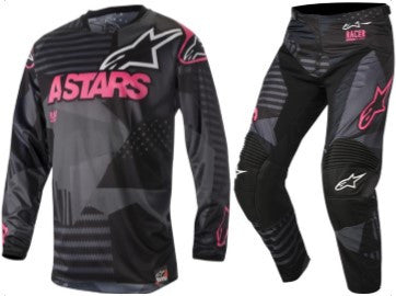 Kit Combo Alpinestars Racer Tactical - 2018- Black Pink 28in S-Small