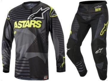 Kit Combo Alpinestars Racer Tactical - 2018- Black Flo Yellow 28in S-Small