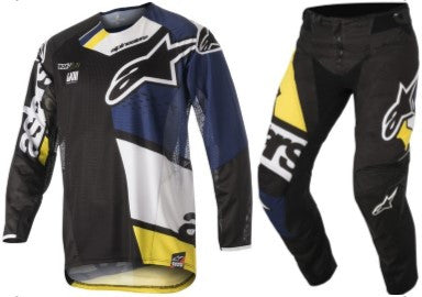 Kit Combo Alpinestars Factory Factory - 2018- Black Blue Yellow 28in S-Small