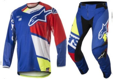 Kit Combo Alpinestars Factory Factory - 2018- Blue Flo Red 28in S-Small